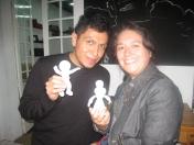 Guillermo y Bana con sus toys en resina